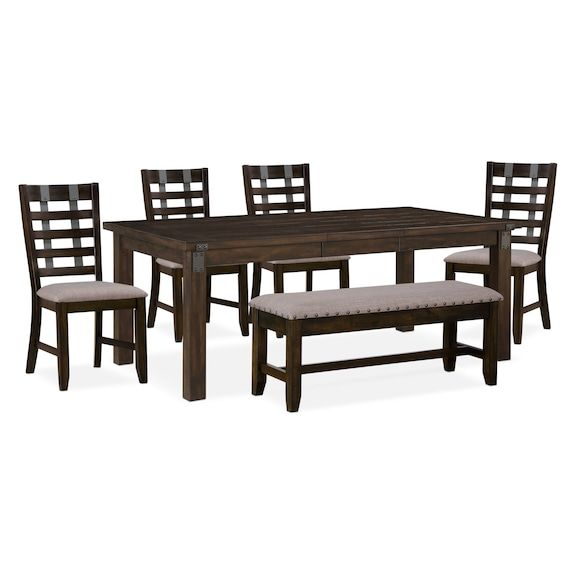 Fine Hampton Dining Table 4 Side Chairs And Storage Bench Bralicious Painted Fabric Chair Ideas Braliciousco