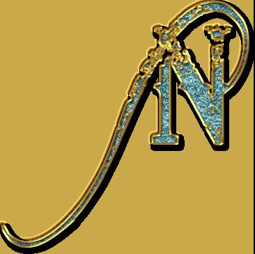 alfabeto de fondo azul claro con orilla en oro alphabet letters design name letters