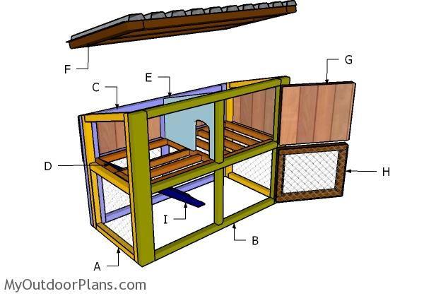 rabbit house plans myoutdoorplans free woodworking
