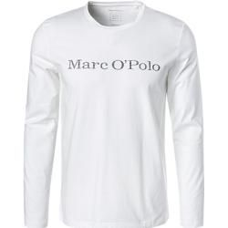 Photo of Marc O'Polo Herren Langarmshirts, Regular Fit, Bio-Baumwolle, weiß Marc O'Polo