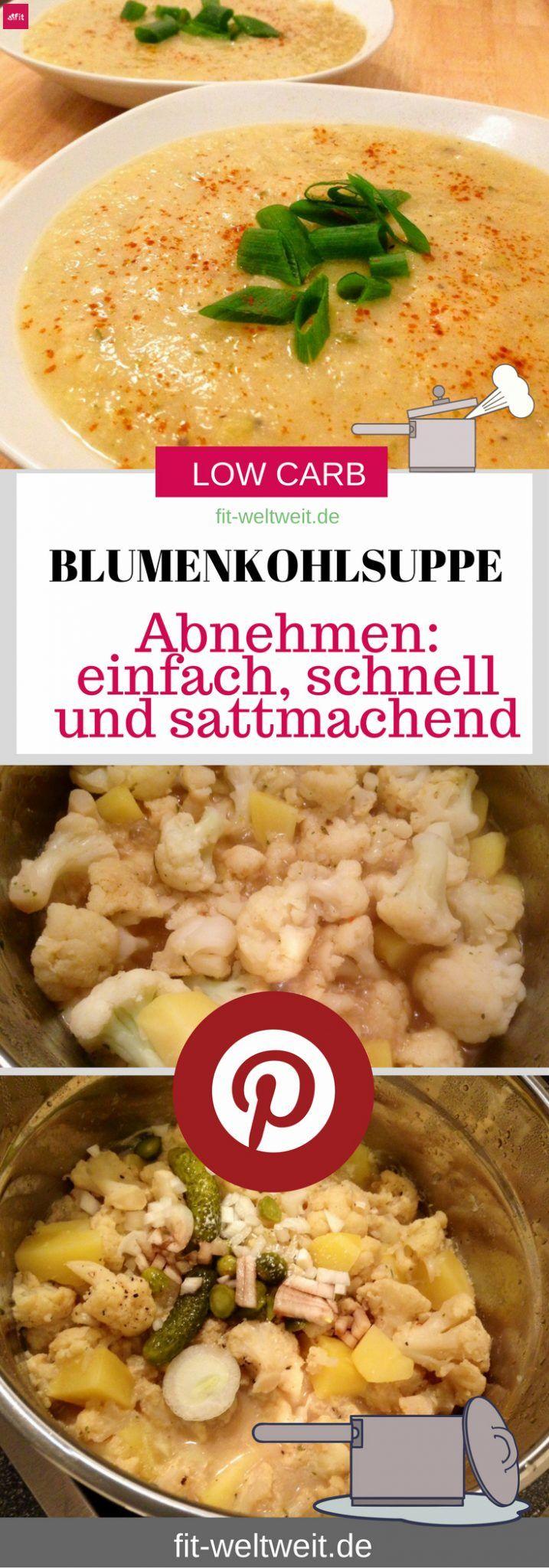 Low Carb Blumenkohlsuppe Rezept Zum Abnehmen Diat Vegan