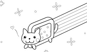 Image Result For Nyan Cat No Color Cotillon