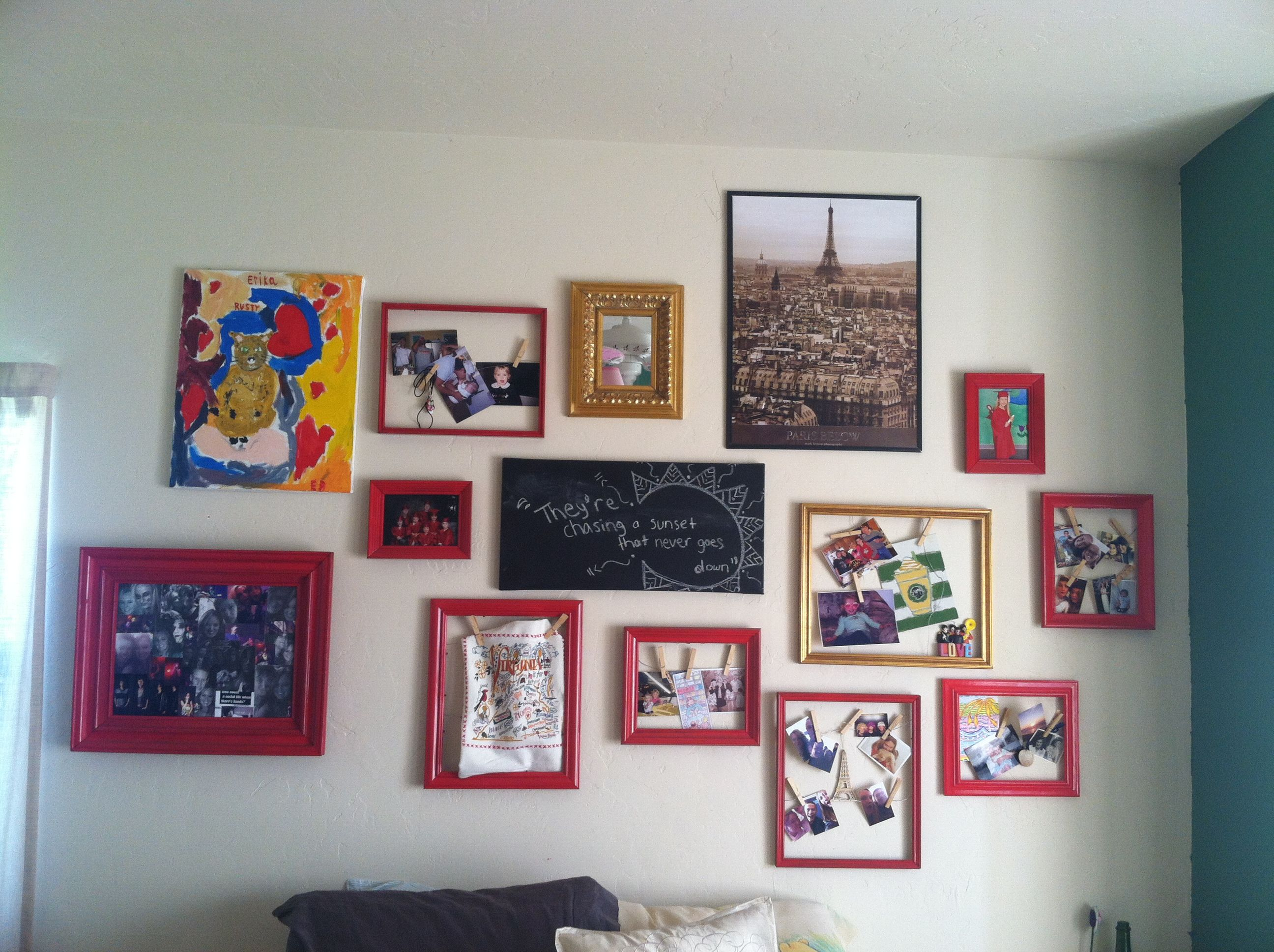DIY painted picture frame collage For the Home