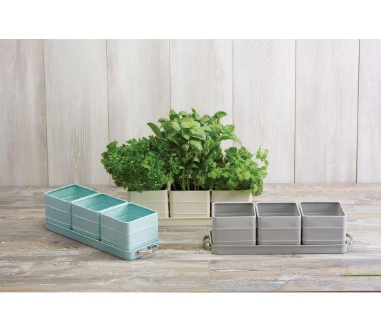 Kitchen Living Nostalgia Doniczki Na Ziola Zestaw Szary Herb Pots Kitchen Crafts Garden Gifts