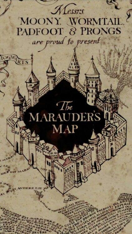 Marauders Map Lockscreen Harry Potter Potterhead Harry Potter Marauders Map Harry Potter Wallpaper Harry Potter Artwork