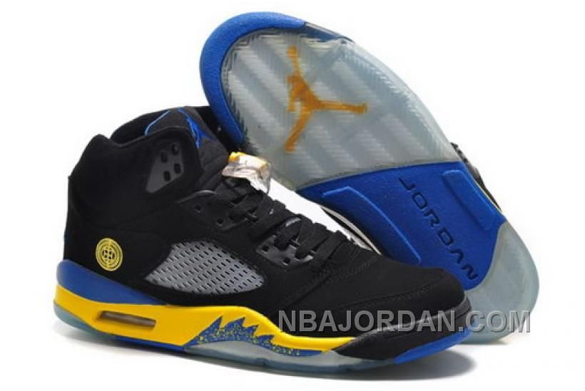 38412908251e8d Ireland Nike Air Jordan V 5 Retro Mens Shoes New Black Gray Yellow ...