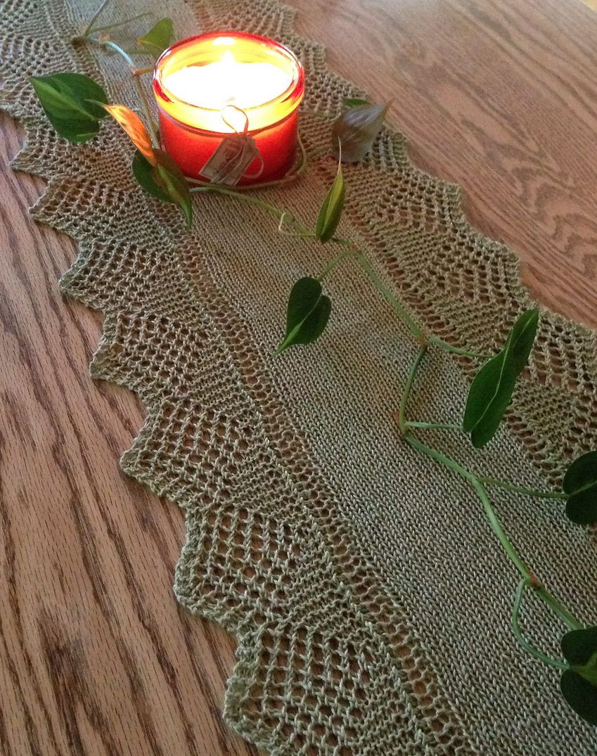 Table Decor Knitting Patterns | Pinterest | Lace table runners, Lace ...