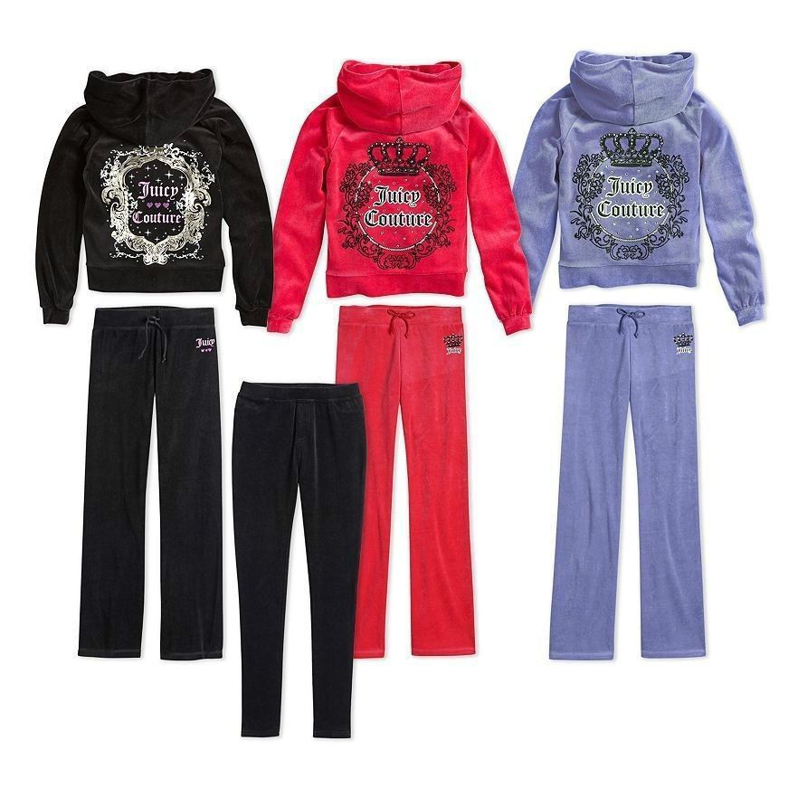 Details about NWT Girls Juicy Couture Black Velour ...