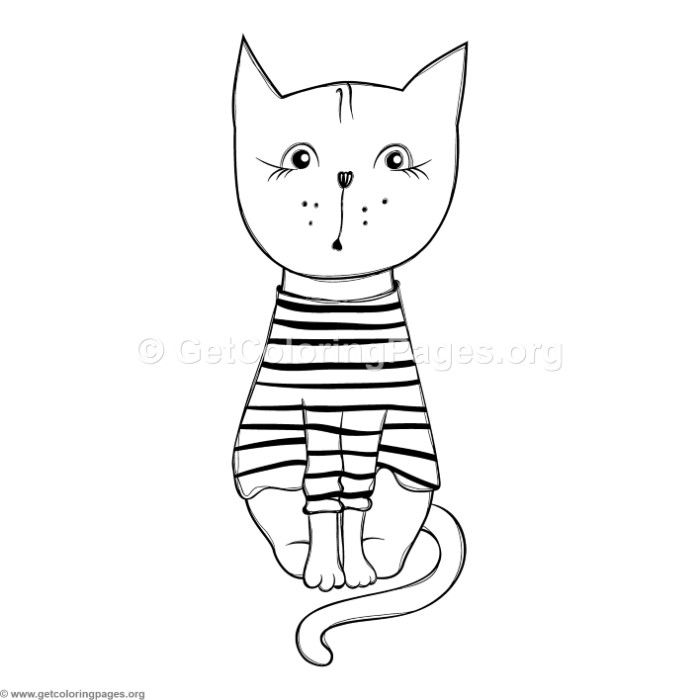 Download Free Funny Cat 3 Coloring Pages Coloringbook Coloringpages Animals