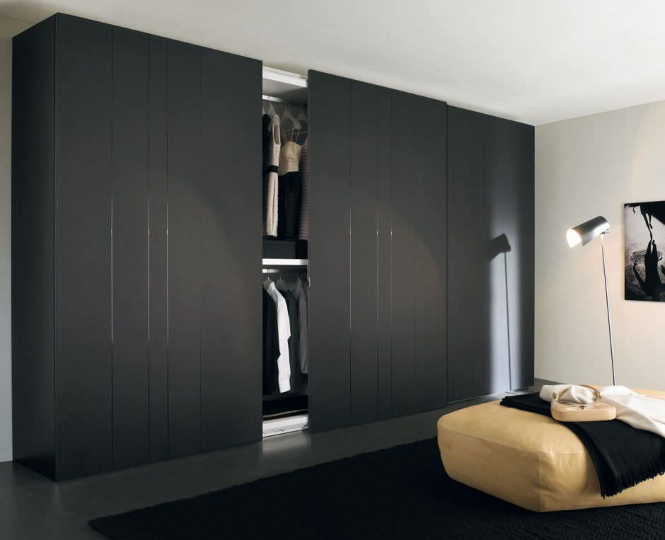 Contemporary wardrobe / lacquered / sliding door ZENIT