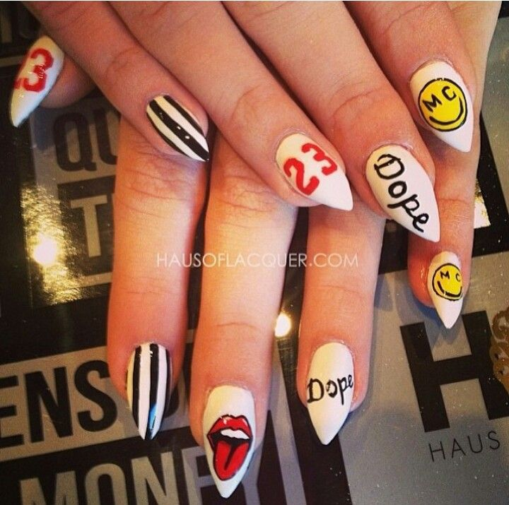Miley Cyrus Inspired | Nail Art | Pinterest | Uña decoradas