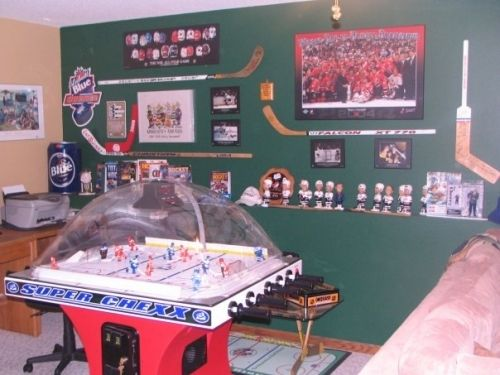 Nhl Man Cave Ideas : Nhl hockey man cave ideas design image