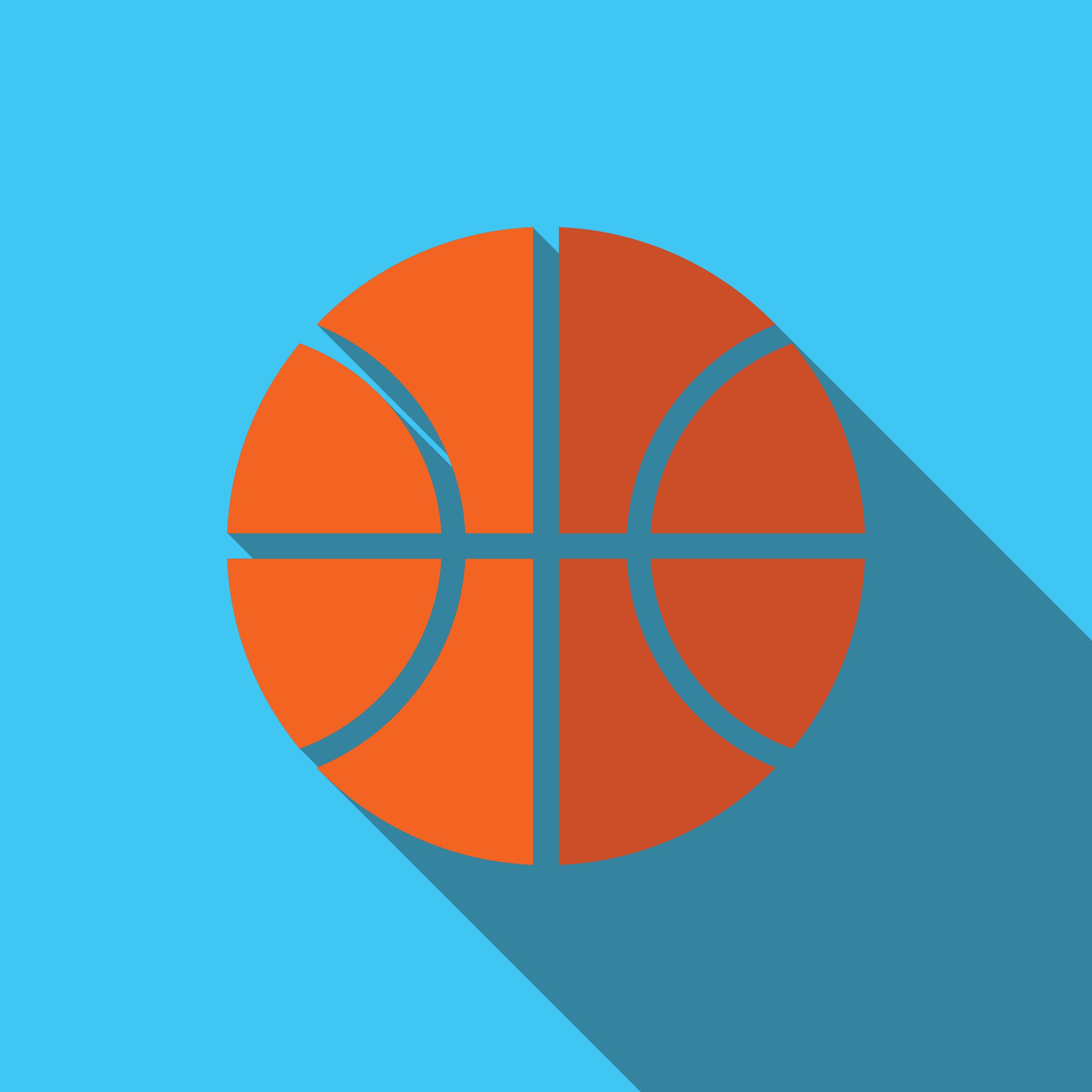 basketball | Flat icon, Pie chart, Flat design