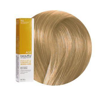9g Light Golden Blonde Permanent Liqui Creme Hair Color Age