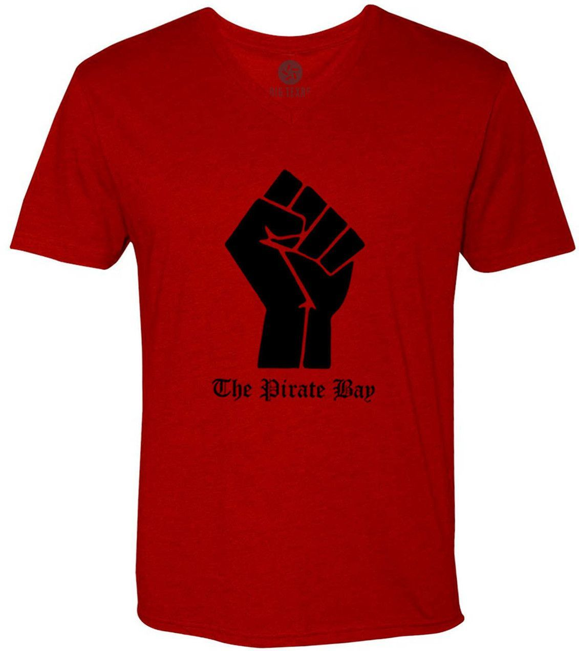 The Pirate Bay Fist (Black) Short-Sleeve V-Neck T-Shirt