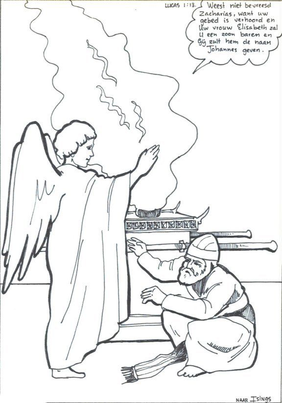 lucas 1 13 engel en zacharias zondagsschool knutselen