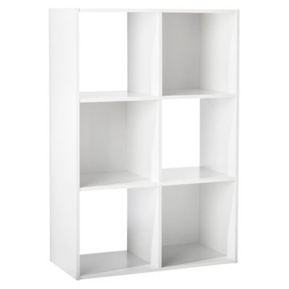 6 Cube Organizer Shelf White 11 Room Essentials 6 Cube