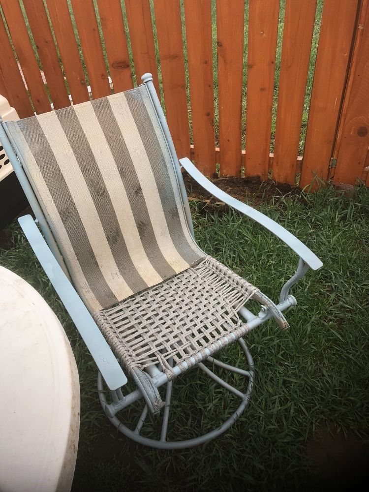 Broken Patio Chair Rescue Patio Furniture Makeover Wrought