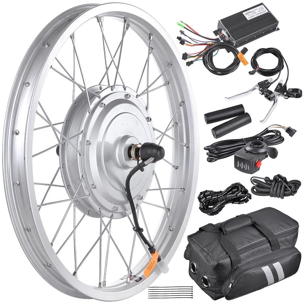 20 36v 750w Electric Bicycle Front Wheel Tire Hub Motor Conversion Kit E Bike Electric Bicycle Conversion Kit Electric Bike Conversion Electric Bicycle