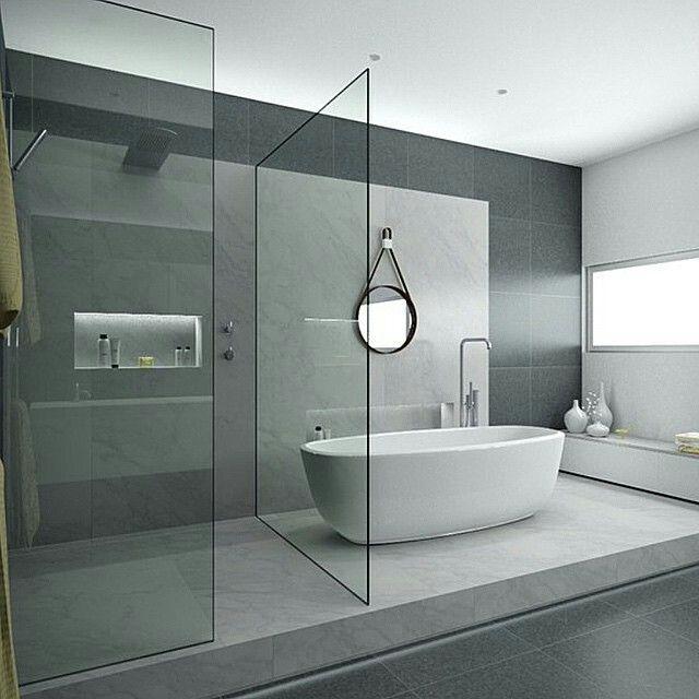 Glass Bathroom | Badkamer ideetjes | Pinterest | Glass bathroom ...