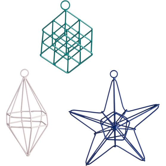open wire geometric ornaments CB2 DIY Pinterest Ornament