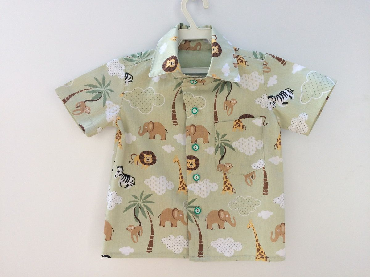 2d430986d0 Camisa masculina infantil em tricoline