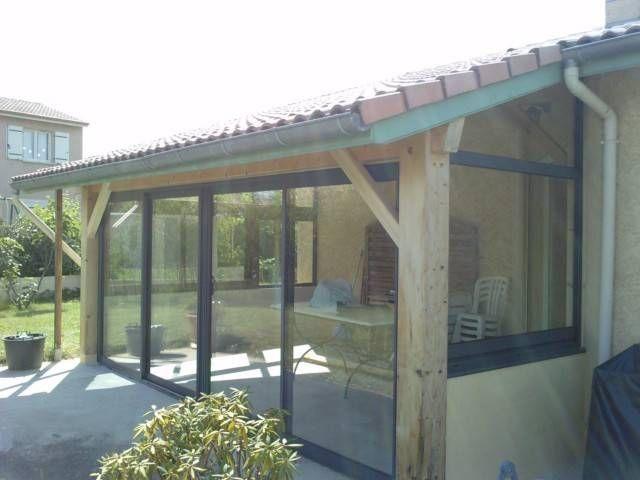 fermeture d une terrasse bois avec des