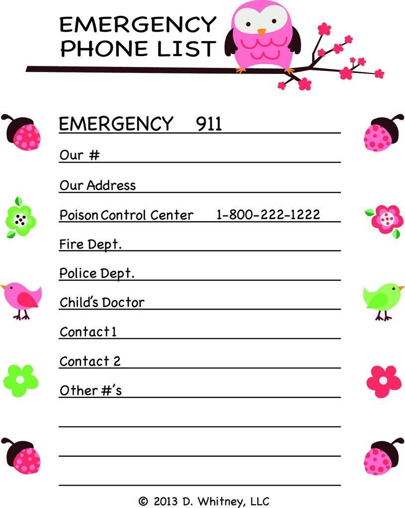 Emergency Phone Number List Template monthly salary statement – Telephone Number Template