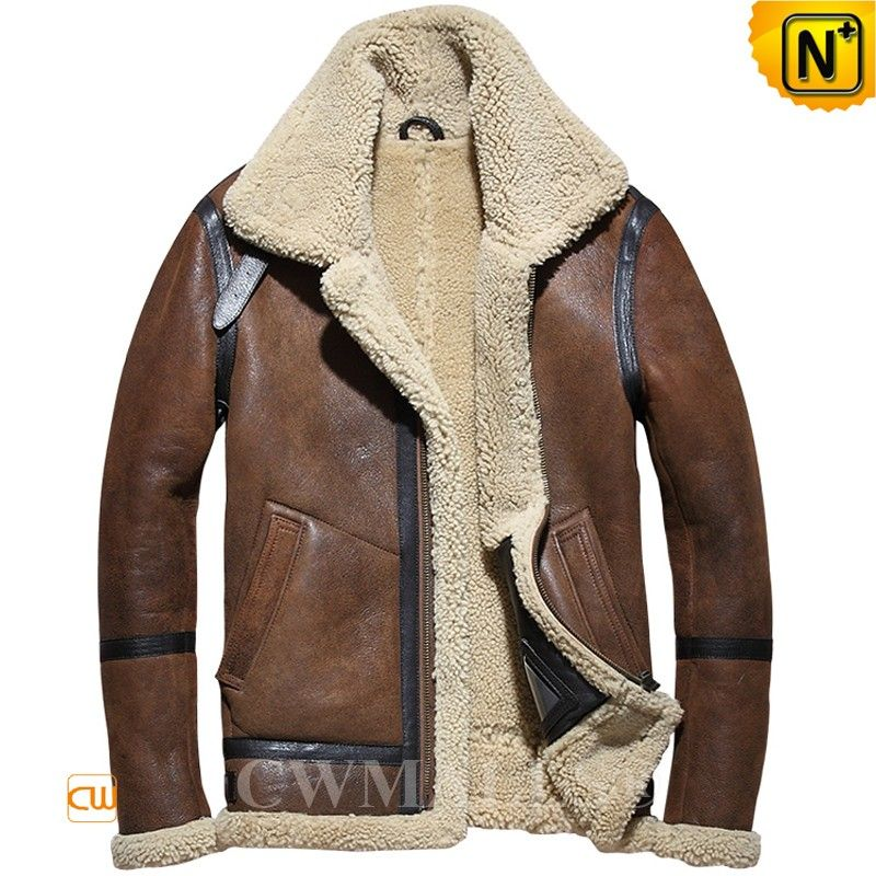 0fa62ac8551 CWMALLS® Vintage Shealing Bomber Jacket CW858205 Shop CWMALLS vintage  shearling bomber jacket made of natural sheepskin with fur shearling