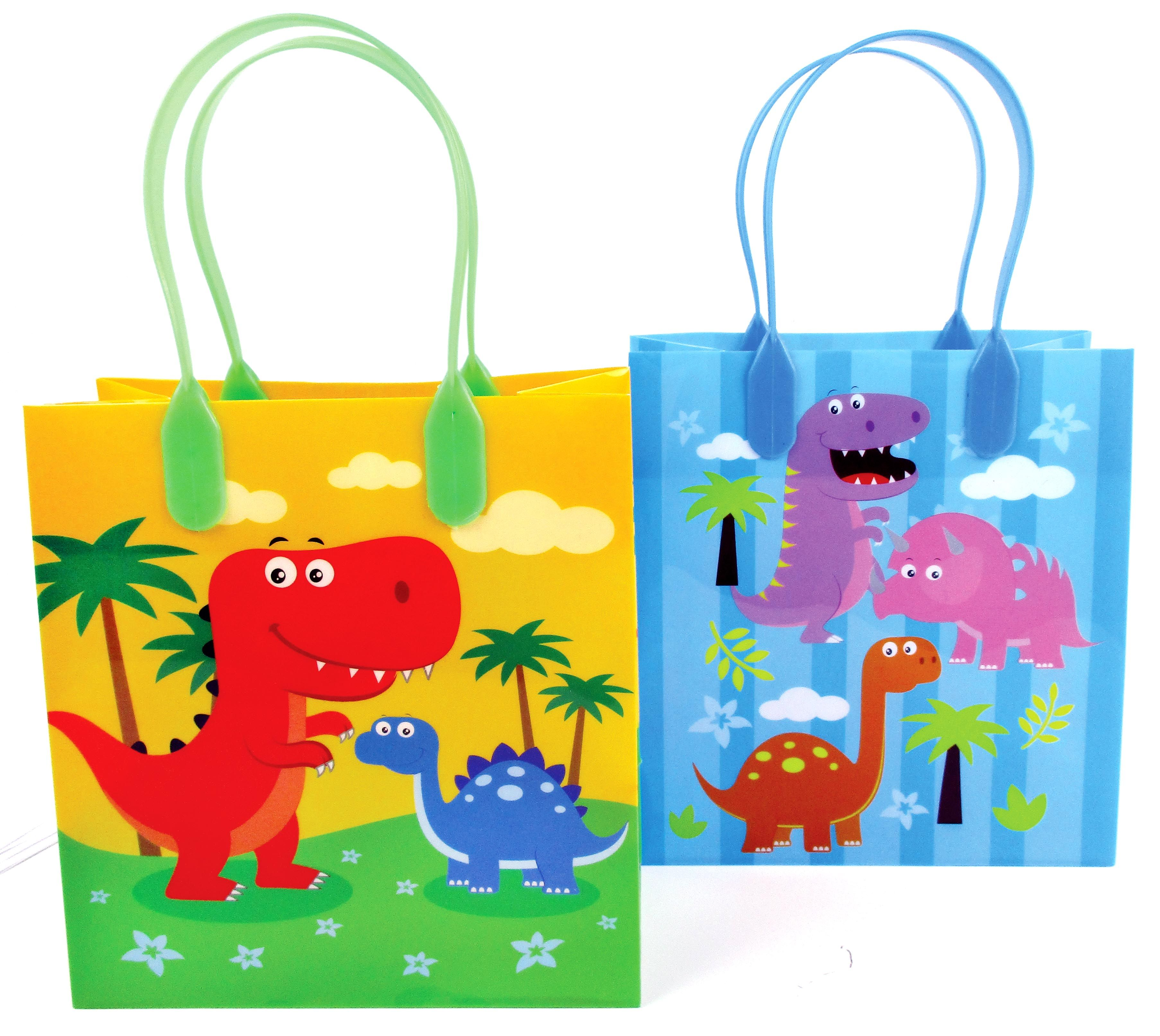 Dinosaur Party Favor Bags Treat Bags Set Of 6 Or 12 Dinosaur Party Favors Dinosaur Party Party Favor Bags