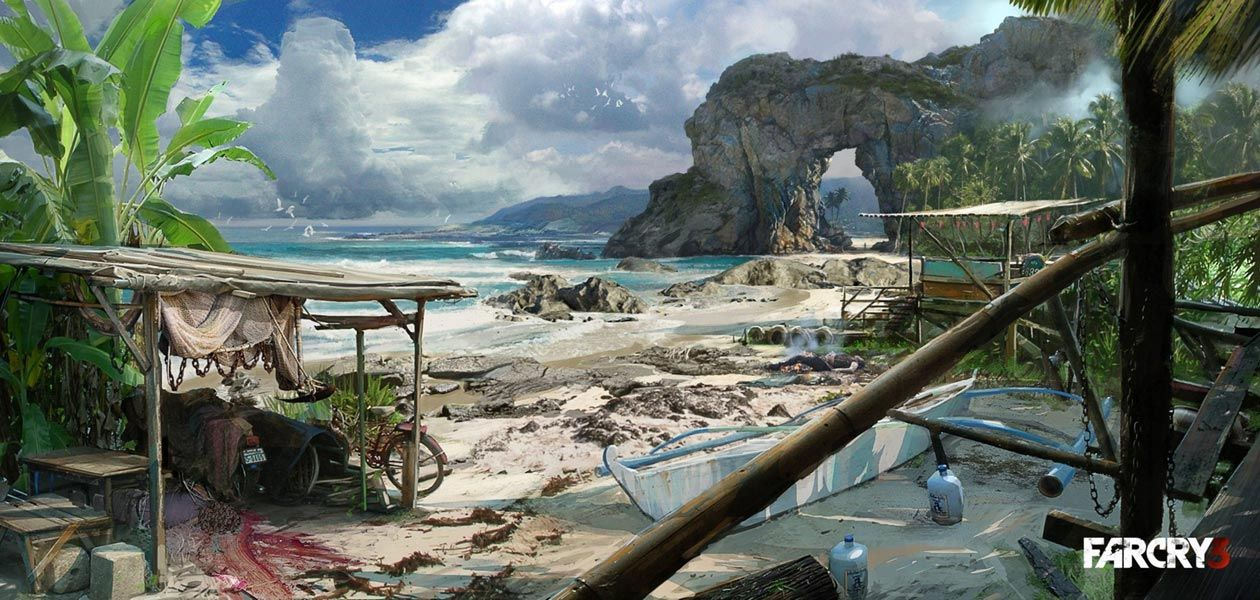 Island Beach Characters Art Far Cry 3 Beach Art Environment Concept Art Dystopian Art