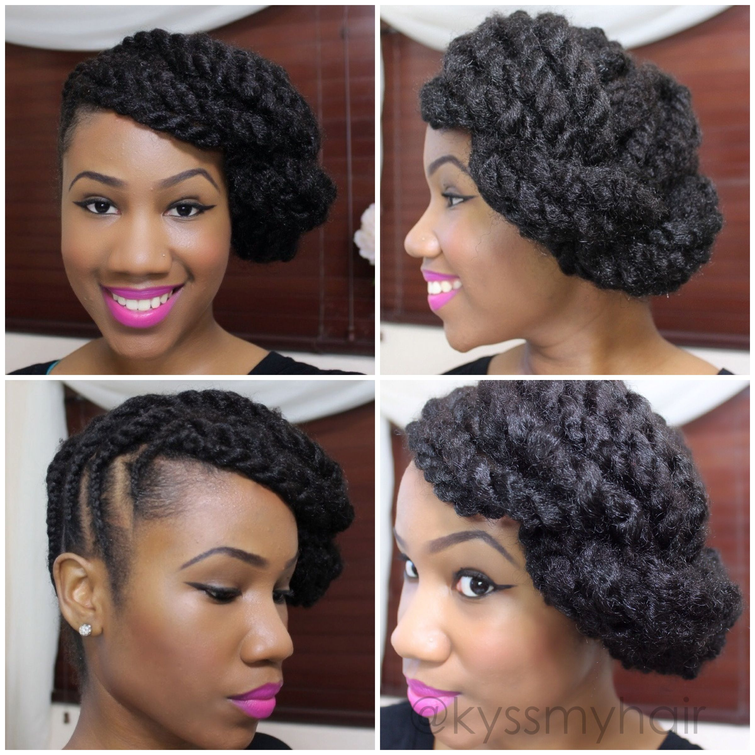 Braided updo on natural hair using marley hair kyss my hair kyss braided updo on natural hair using marley hair kyss my hair solutioingenieria Image collections