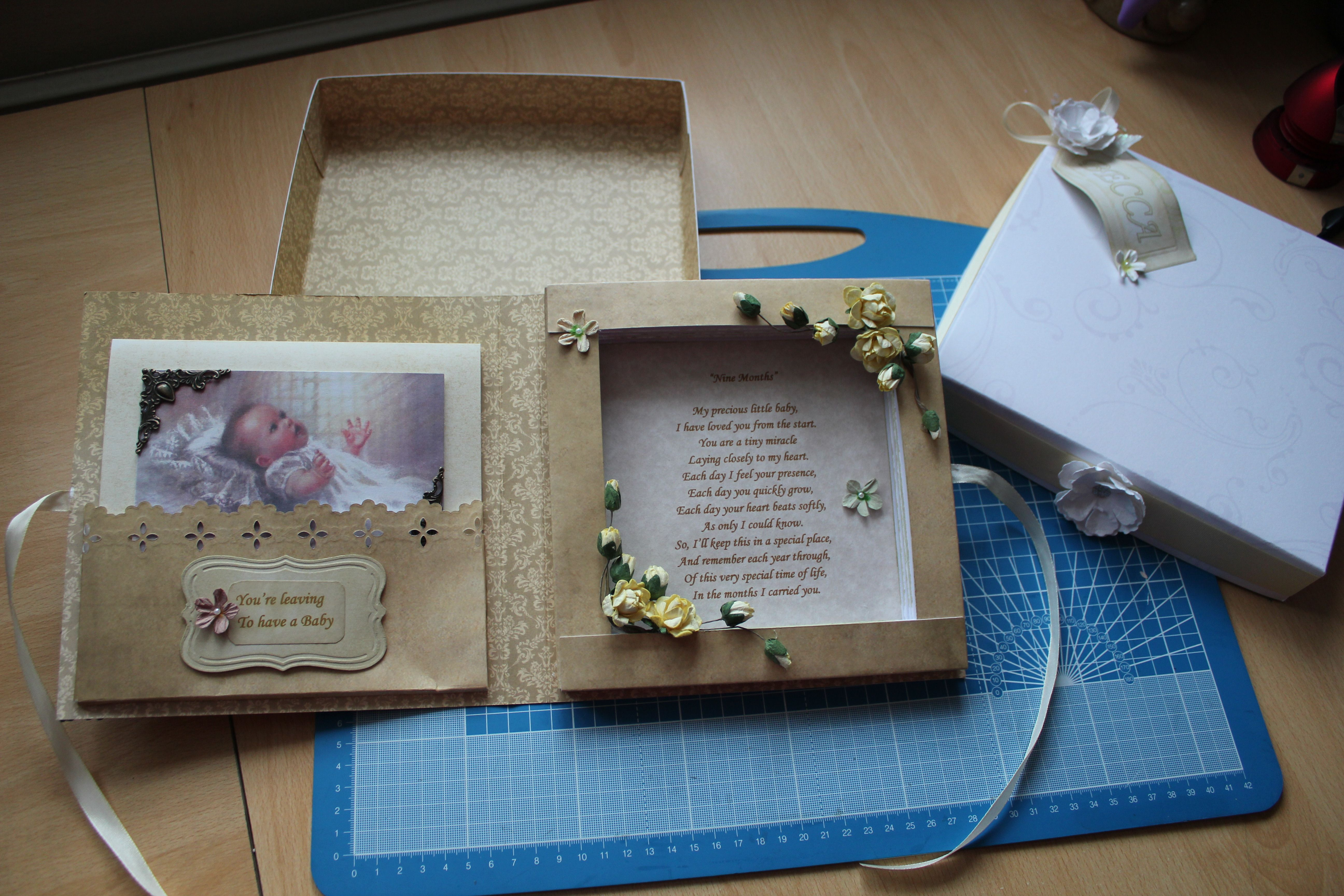 Leaving to have a baby card i was asked to make i made it into a