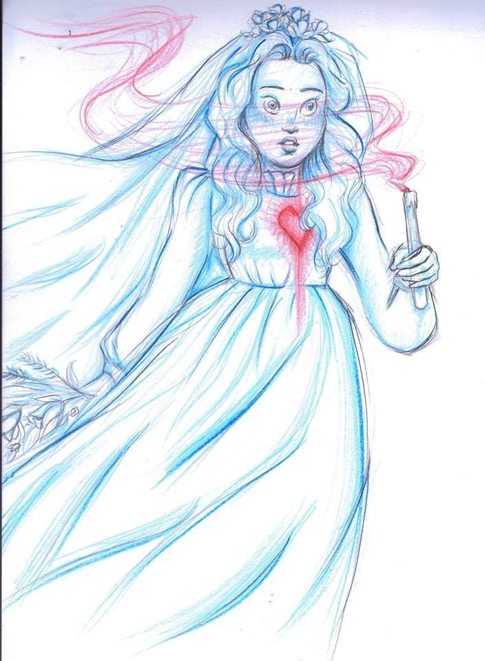 Black Widow Disney Bride