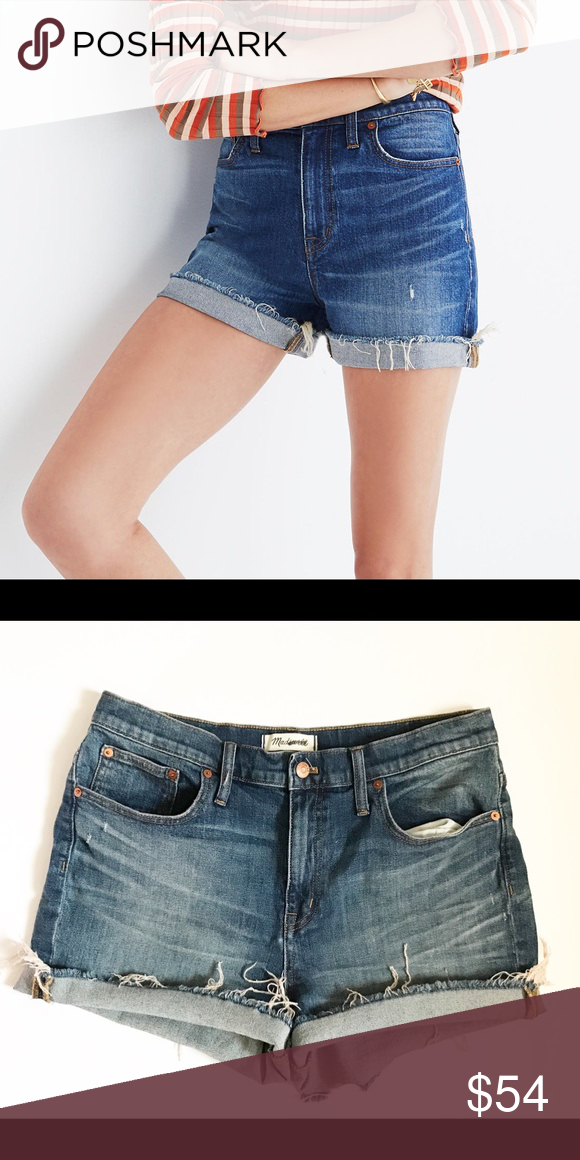 a54dad34301 MADEWELL High Rise Denim Boyshorts- Glen Oaks Wash New without tags ...