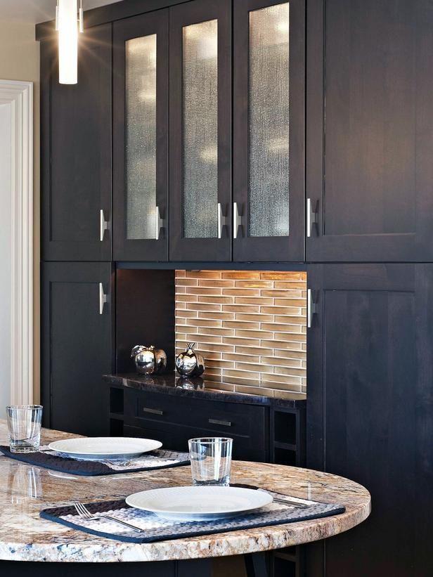 Modern Kitchen Backsplash Dark Cabinets kitchen backsplashes | best kitchen backsplash, hgtv and kitchens