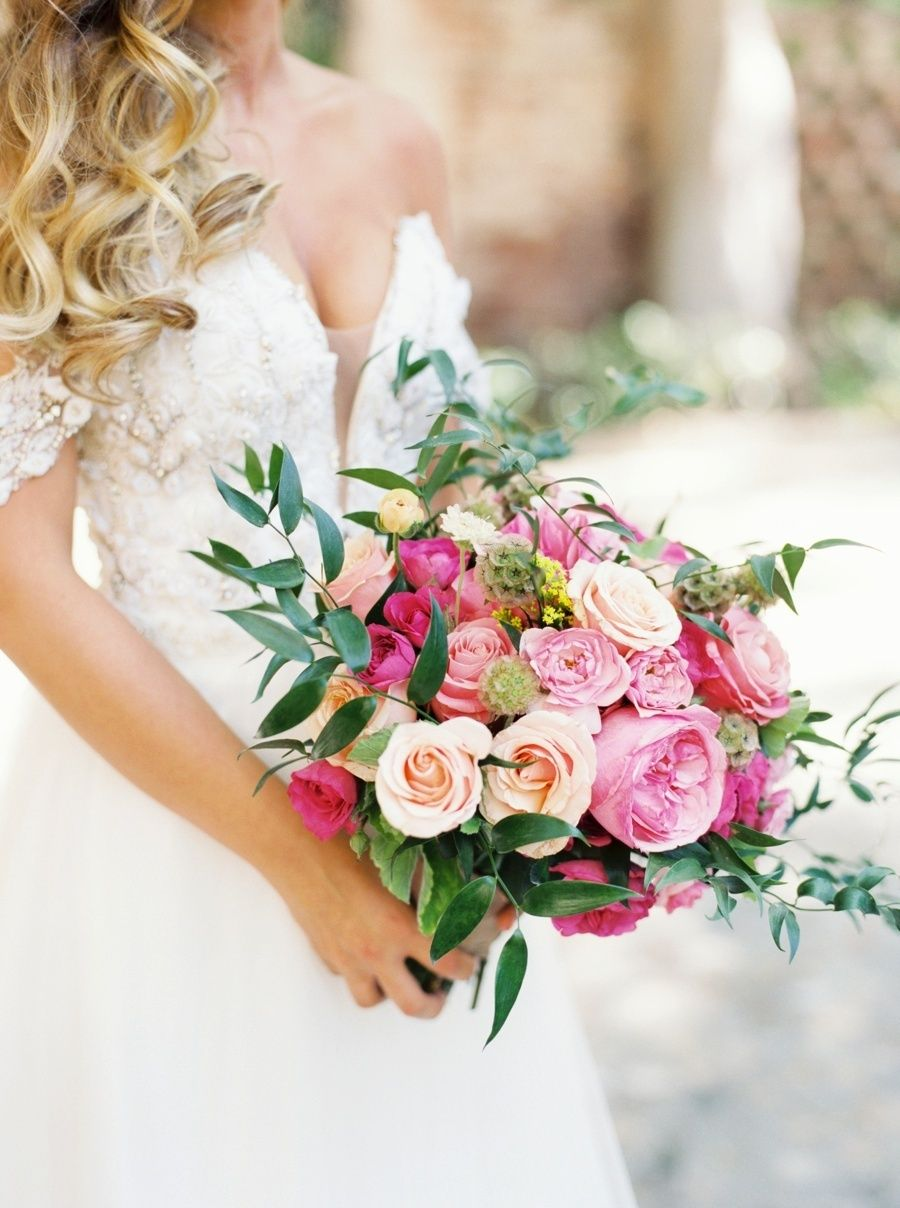 A pink al fresco wedding fit for a foodie wedding bouquets bougainvillea jasmine ranunculus and rose wedding bouquet photography assistance camryn clair photography photography nicole clarey photography izmirmasajfo