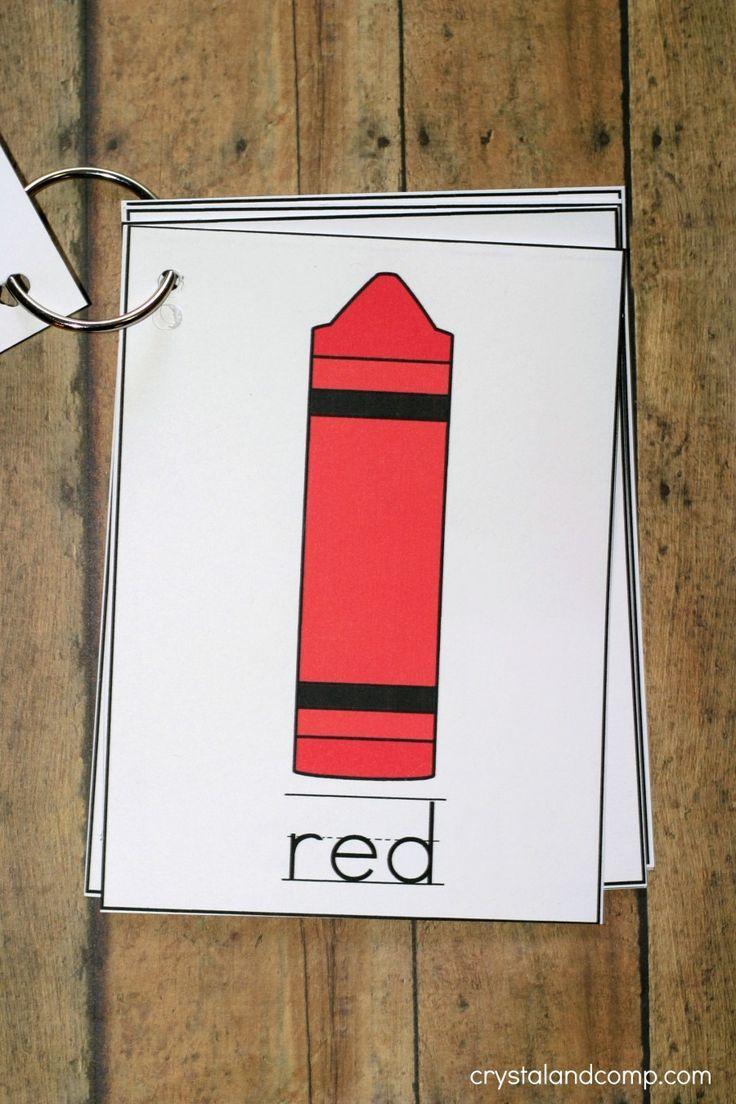printable color flash card flip book kindergarten kolleagues teaching colors preschool. Black Bedroom Furniture Sets. Home Design Ideas