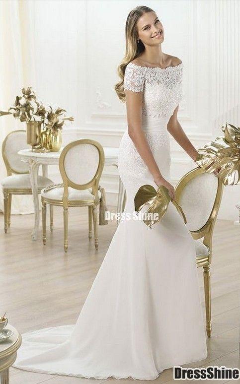 Wedding Dress Wedding Dresses Pronovias Wedding Dress Short Sleeve Wedding Dress Wedding Dresses