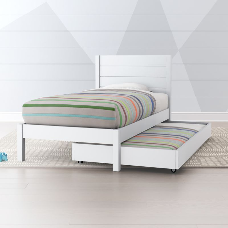 Parke White Trundle Bed Crate And Barrel White Trundle Bed