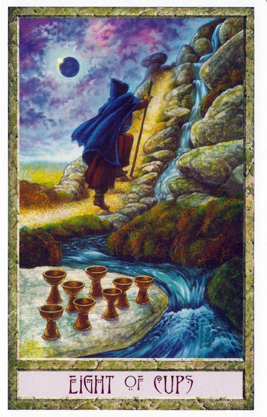 Druid Craft 8 Cups | Druid Craft Tarot Deck | Tarot, Eight
