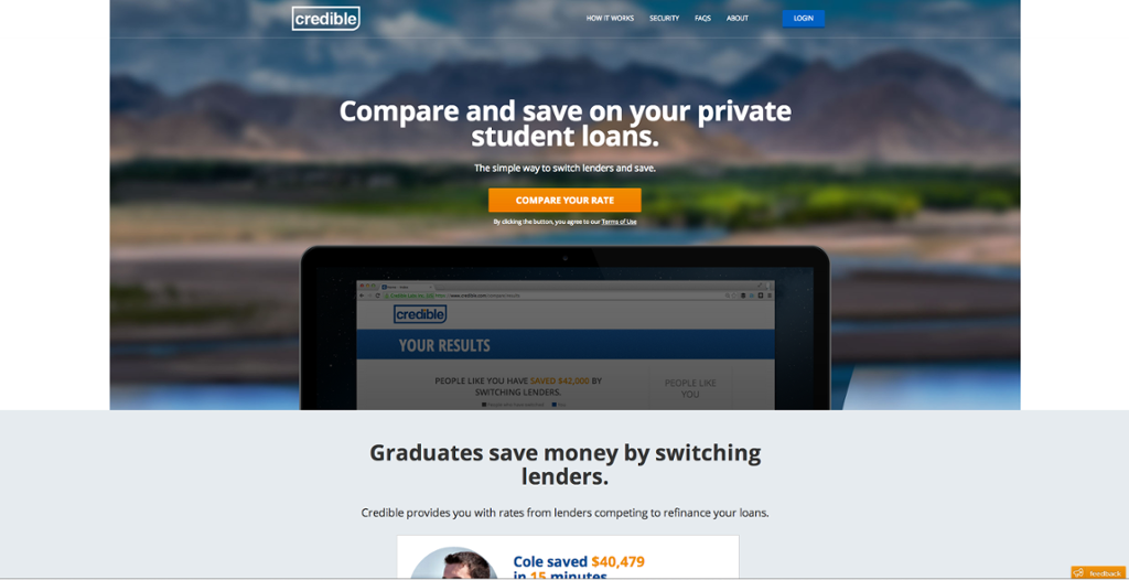 Credible, will help find a ways to manage student loans