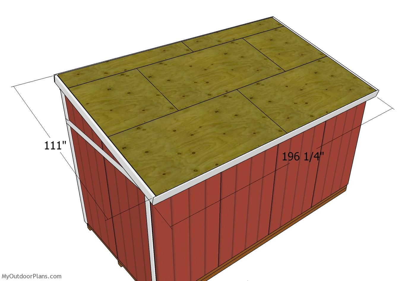 Best 8X16 Lean To Shed Roof Plans Myoutdoorplans Free 400 x 300
