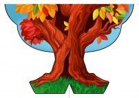 Осеннее дерево для оформления интерьера