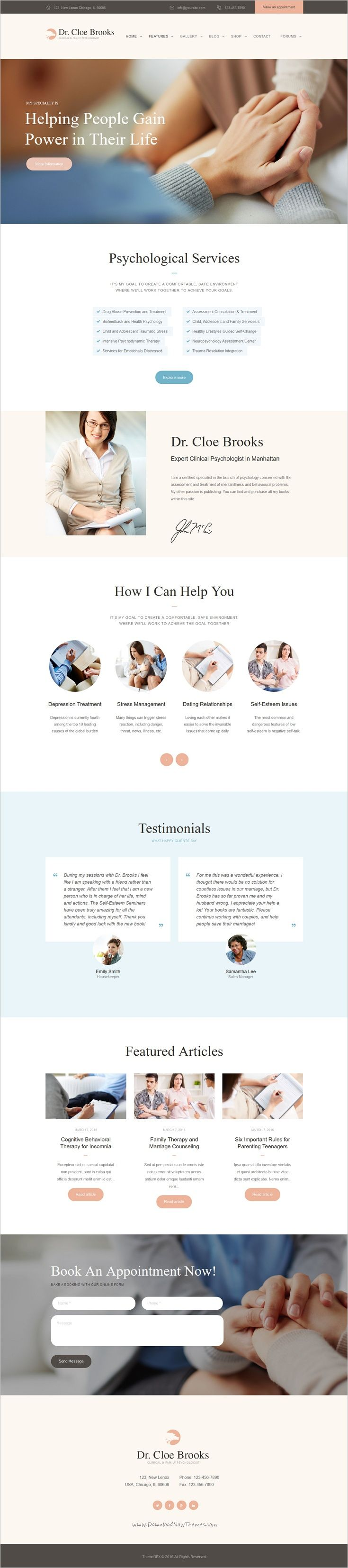 Psychology Counseling And Medical Site Template Medical Sites Medical Websites Psychology