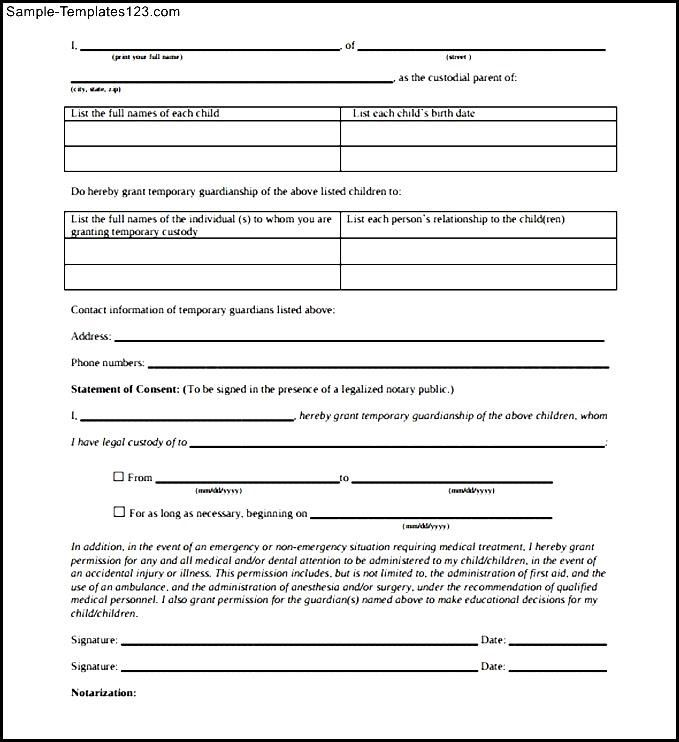 Child Notarized Letter Template Sample Pdf Download Templates