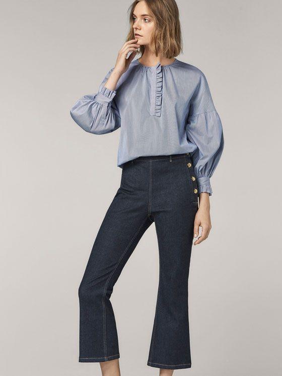 la mejor actitud 2181d 8c7ae Pantalones vaqueros de mujer | Avance Otoño 2017 | Massimo ...