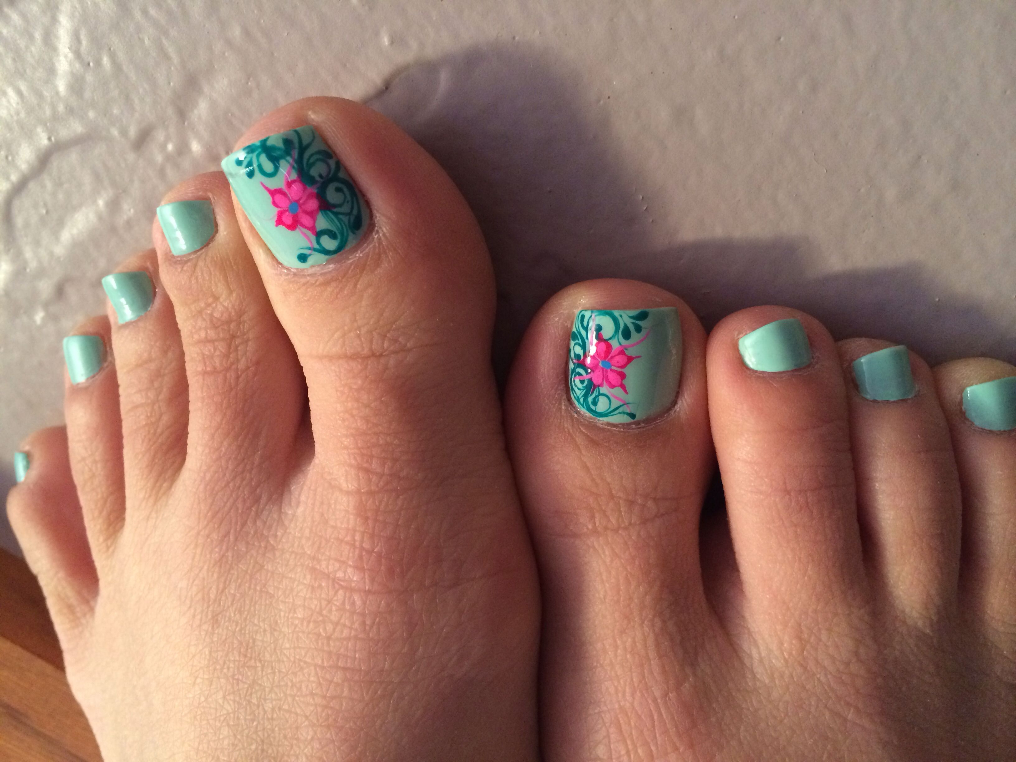 Spring Pedicure Ideas Pedicure With Nails Design Spring
