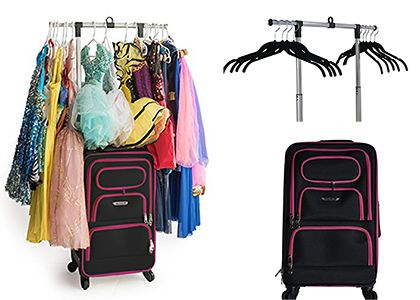 Dance Bag With Garment Rack Custom Dance Angel Rolling Dance Bag With Garment Rack  Dance Bags  The Inspiration Design