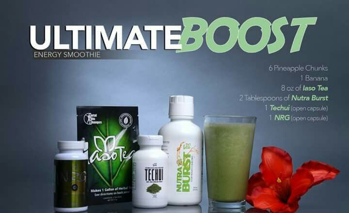 I M Obsessed With This Iaso Techui Shake Recipe If You Want To Try One You Can Get Iasotechui Nutrabur Energy Smoothies Energy Boosting Smoothies Iaso Tea